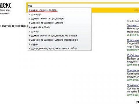 Подборка смешных и прикольных запросов в Яндексе