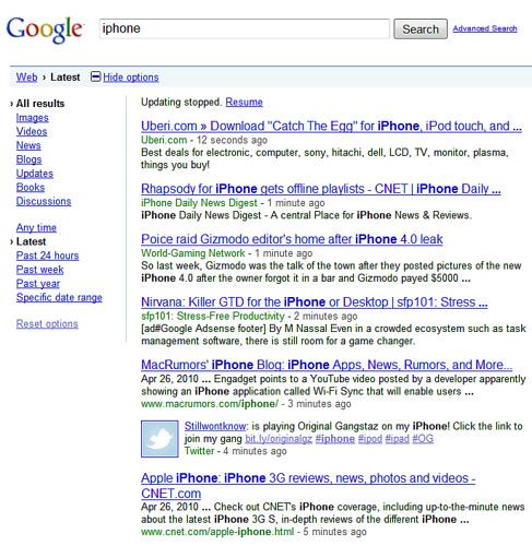 Твиты в поиске Google