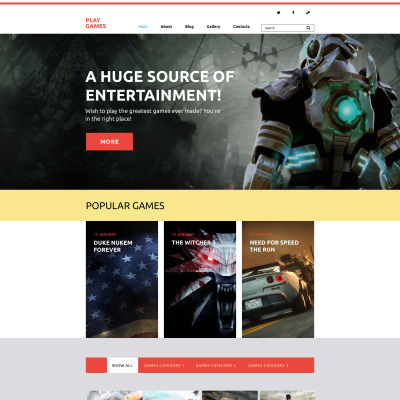 FunnyGames WordPress тема игровой тематики
