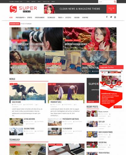 Новостная, журнальная Wordpess тема NewsAgency