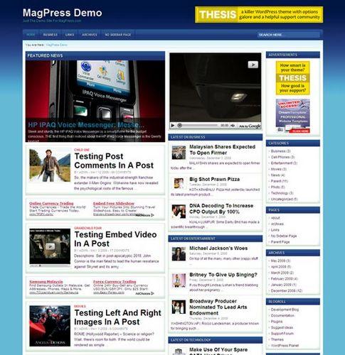 WordPress тема технологий TechPress