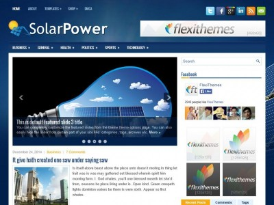 WordPress тема Solarpower