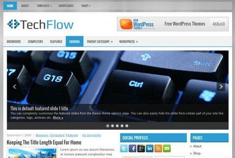 WordPress  тема Techflow от Newwpthemes