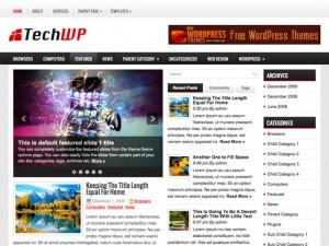Журнальная WordPress тема NextTech